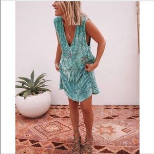 NWT Spell & The Gypsy Collective Blue Sequin Dress